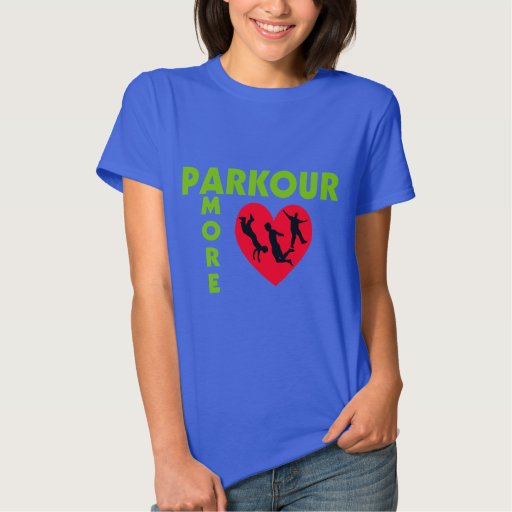 Parkour Amore con el corazón Camisas