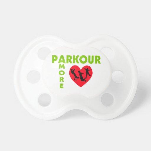 Parkour Amore con el corazón Chupetes
