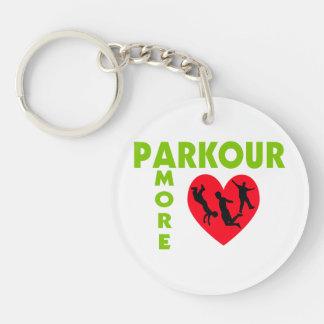 Parkour Amore con el corazón Llavero Redondo Acrílico A Doble Cara