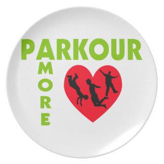 Parkour Amore con el corazón Platos Para Fiestas