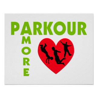 Parkour Amore con el corazón Póster
