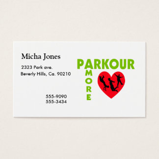 Parkour Amore With Heart Business Card