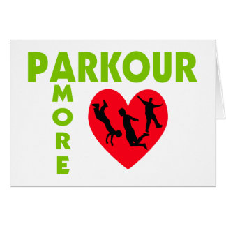 Parkour Amore With Heart Greeting Cards
