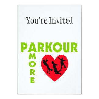 """Parkour Amore With Heart 5"""" X 7"""" Invitation Card"""