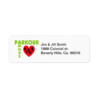Parkour Amore With Heart Custom Return Address Label
