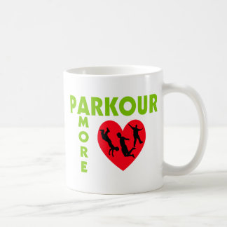 Parkour Amore With Heart Classic White Coffee Mug