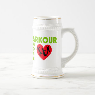 Parkour Amore With Heart 18 Oz Beer Stein