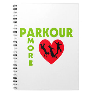 Parkour Amore With Heart Notebook
