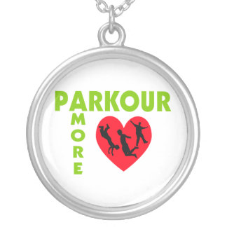 Parkour Amore With Heart Silver Plated Necklace