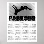 Parkour Athlete 2013 calendar poster Poster