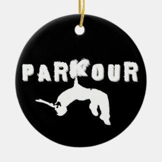 Parkour Athlete Ceramic Ornament