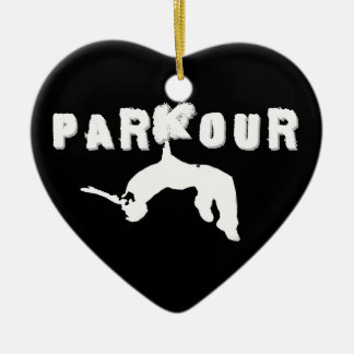Parkour Athlete Christmas Ornament