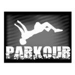 Parkour athlete postcard postcards