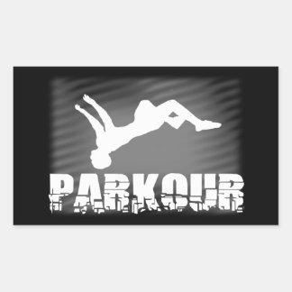 Parkour athlete sticker