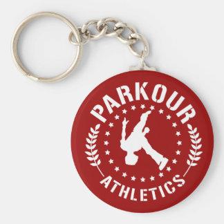Parkour athletics keychain