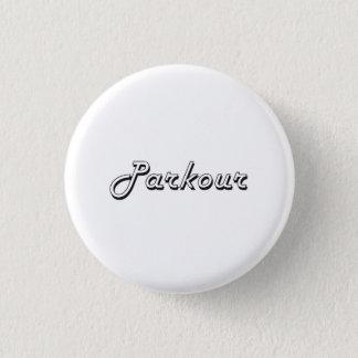 Parkour Classic Retro Design Button