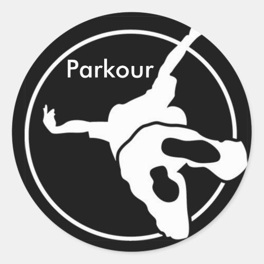 Parkour. Classic Round Sticker