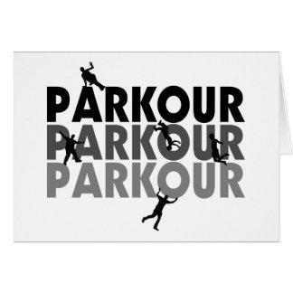 Parkour Free Running Greeting Card