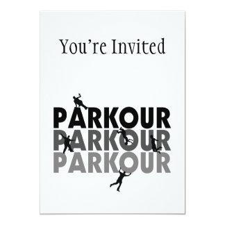"Parkour Free Running 5"" X 7"" Invitation Card"