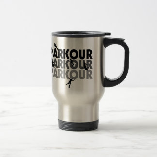 Parkour Free Running 15 Oz Stainless Steel Travel Mug