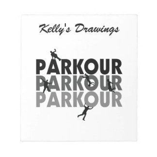 Parkour Free Running Note Pad