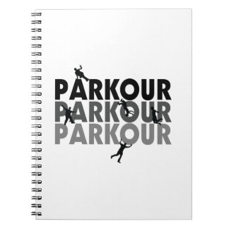 Parkour Free Running Spiral Notebook