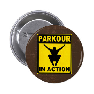 Parkour In Action Signboard Pin