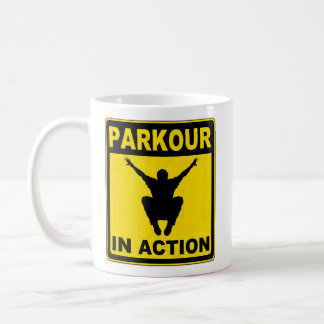 Parkour In Action Signboard Coffee Mugs