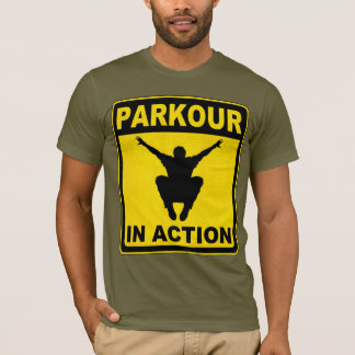 Parkour In Action Signboard T-Shirt