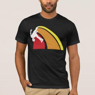 parkour lines warm colors T-Shirt