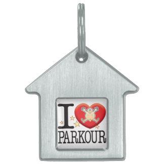 Parkour Love Man Pet Name Tag