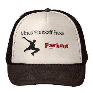 parkour man, Make Yourself Free, Parkour Trucker Hat