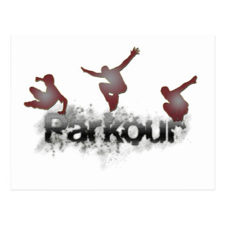 Parkour Postcard