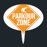 """Parkour Runaway Extreme Sports Stunt Free Running Cake Topper<br><div class=""""desc"""">What&#39;s the distance that you can survive by simply jumping, rolling, climbing and hiding? If you are a parkour enthusiast, this tee is for you! If you like French Running Sport Grab this tshirt as a gift for family and friends. Show your Jump Style Skills Awesome gift for friends, family,...</div>"""