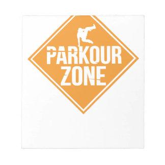 Parkour Runaway Extreme Sports Stunt Free Running Notepad
