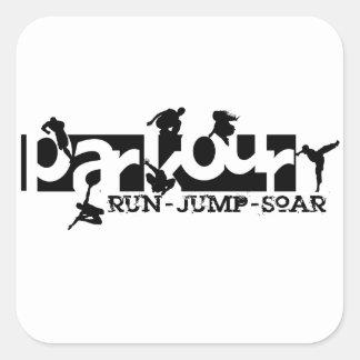 Parkour Square Sticker
