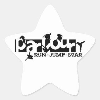 Parkour Star Sticker