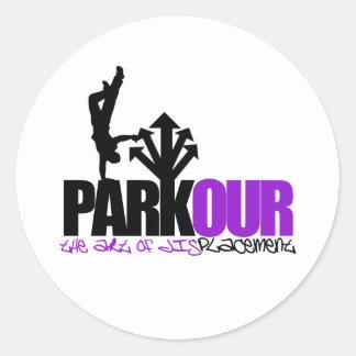 Parkour Classic Round Sticker