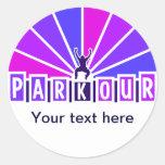 PARKOUR stickers, customize Classic Round Sticker