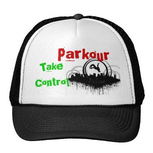Parkour, toma control gorra