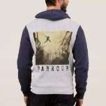 Parkour Urban Obstacle Course Modern Sepia Hoodie
