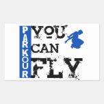 Parkour - usted puede volar rectangular pegatinas