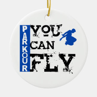 Parkour - You Can Fly Ceramic Ornament