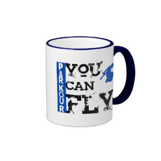 Parkour - You Can Fly Ringer Coffee Mug