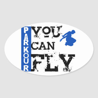 Parkour - You Can Fly Oval Sticker