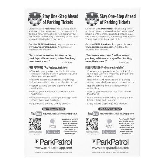 ParkPatrol Community Flyer