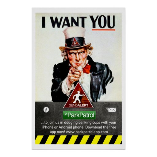ParkPatrol I WANT YOU Poster