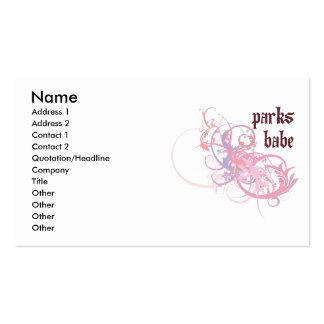 Parks Babe Double-Sided Standard Business Cards (Pack Of 100)