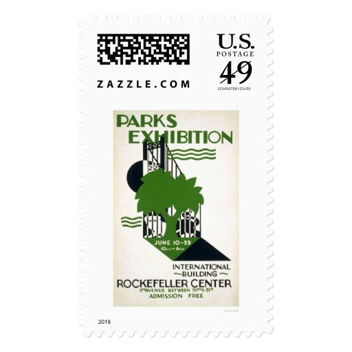 Parks Exhibition NYC 1937 WPA Postage Stamp
