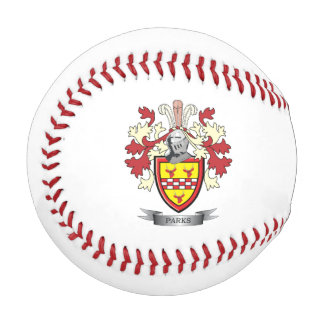 Parks Family Crest Coat of Arms Baseball